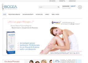 Neues und frisches Design im Biocea® Online Shop